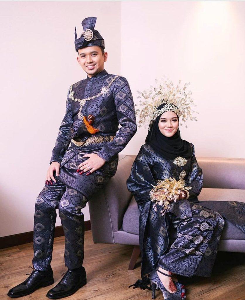 8+ Inspirasi Baju Pengantin Songket Hitam Gold - Lamaz Morradean