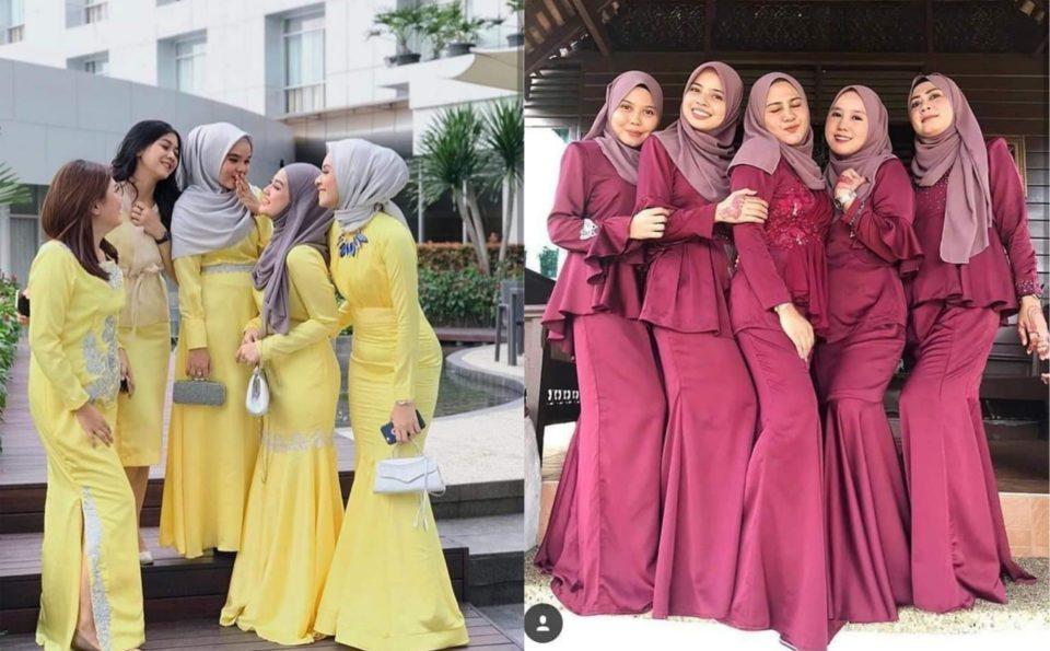 15 Inspirasi fesyen untuk bridesmaid nampak cantik seperti dayang diraja