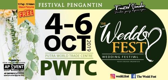 2 hari lagi, Jom serbu The Wedd Fest, PWTC hujung minggu ini!