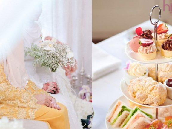 Perkahwinan konsep hi-tea, pengantin dedah bajet tak sampai RM3000