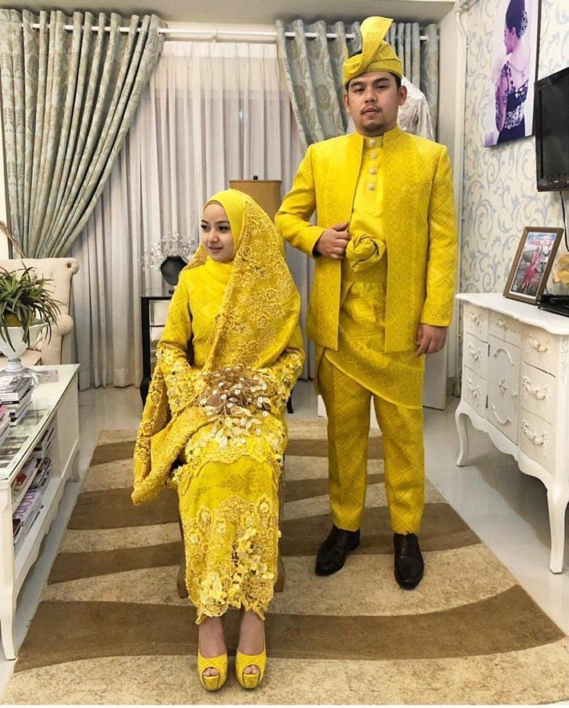 9+ Trend Terbaru Baju Songket Pengantin Warna Kuning - Lamaz